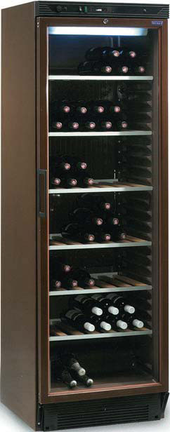 Cave vins porte vitree 118 bouteilles cpv1380m achat for Cave a vin garage froid