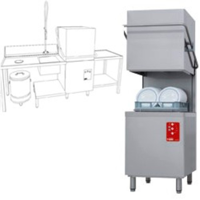 Lave vaisselle capot table entr e d26eks npc s for Vaisselle cuisine professionnelle