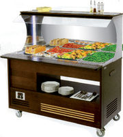 Buffet mixte mural