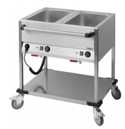Chariot bain-marie 2 GN 1/1