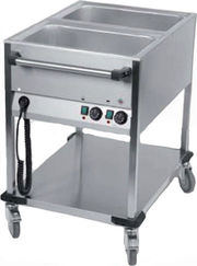 Chariot bain-marie 2 x GN1/1