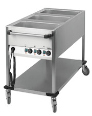 Chariot bain-marie 3 GN 1/1