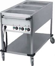 Chariot bain-marie 3 x GN1/1