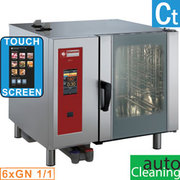 Four gaz  touch  vapeur directe/convection 6x gn 1/1 cleaning