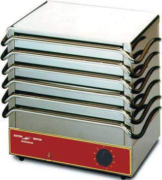 Chauffe plats 6 plaques electro broche cp1000ro achat - Maintien au chaud electrique ...