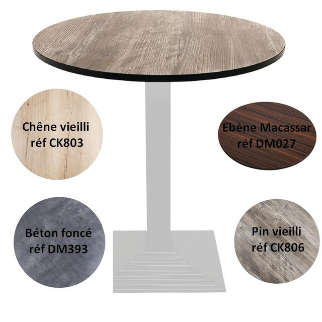 plateau de table rond stratifi ck806 achat plateau de table rond stratifi. Black Bedroom Furniture Sets. Home Design Ideas